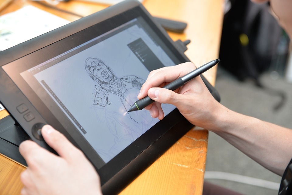 Comic Drawing Artist Scetch Digital Board